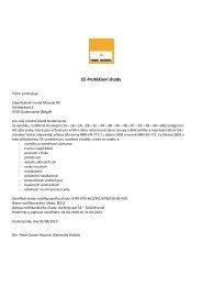 Certifikát - KLINKER Centrum sro