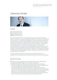 Johannes Zindel - Klinkert Zindel Partner