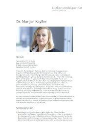 Dr. Marijon Kayßer - Klinkert Zindel Partner