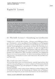 Kapitel 8: Lernen - Julius Klinkhardt