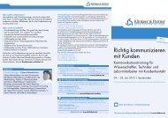 Richtig kommunizieren mit Kunden - Klinkner & Partner GmbH