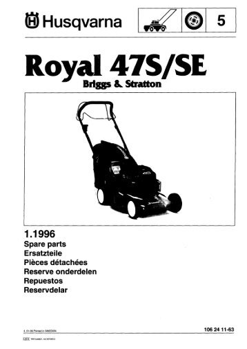 IPL, Royal 47 S, 47 SE, 1996-01, Lawn Mower - Husqvarna