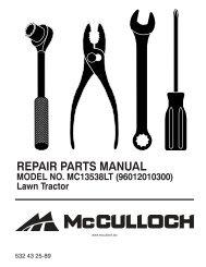 ipl, mc13538lt, 2009-12, tractors/ride mower, 96012010300 - Klippo