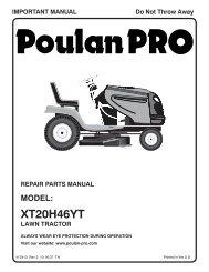 om, xt20h46yt, 2007-10, tractors/ride mower, 960420047 - Poulan