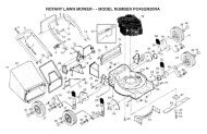 rotary lawn mower - - model number po45qn20ra - Klippo