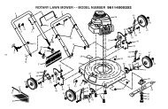 rotary lawn mower - - model number 96114000202 - Klippo