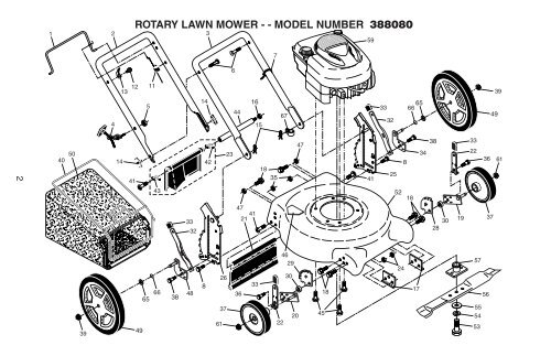 rotary lawn mower - - model number 388080 - Klippo
