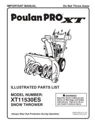 IPL, XT11530ES, 2010-08, SNOW BLOWERS/THROWERS ... - Klippo