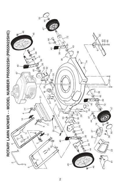 model number pr55n22sh (pr55n22shc) - Klippo