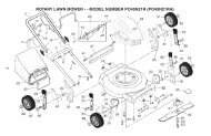 rotary lawn mower - - model number po45n21r (po45n21ra) - Klippo