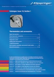 Thermometers and accessories Catalogue: Issue 10 ... - Klipspringer