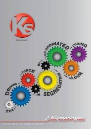 Specialist suppliers to the food and beverage industry - Klipspringer