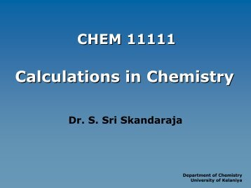 CHEM 11111_2013_05_20 - University of Kelaniya