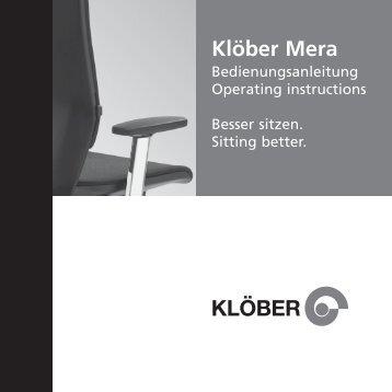 Bedienungsanleitung Mera - Klöber GmbH