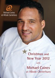 Christmas and New Year 2012 Michael Caines - Abode