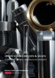 UNSER SERvicE: dREhEN & SägEN - Klöckner Stahl