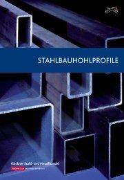 Flyer Stahlbauhohlprofile - Klöckner Stahl