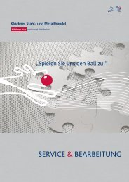 serVice & BearBeitung - Klöckner Stahl
