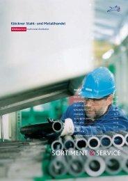 sortimEnt & sErvicE - Klöckner Stahl