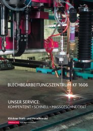BLEcHBEARBEiTUNGSZENTRUM KF 1606 - Klöckner Stahl