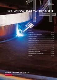 SchweiSSzuSatzwerkStoffe - Klöckner Stahl