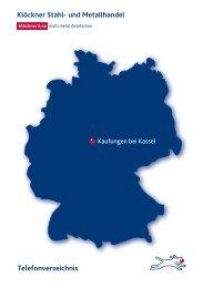 Telefonverzeichnis Kaufungen - Klöckner Stahl