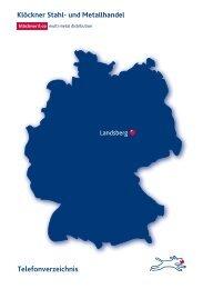 Telefonverzeichnis Landsberg - Klöckner Stahl