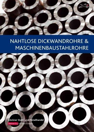 Flyer Dickwandrohre - Klöckner Stahl