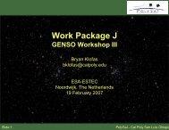 Work Package J: GENSO Workshop III - Klofas.com