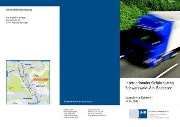 Internationaler Gefahrguttag Schwarzwald-Alb-Bodensee - KLOK eV
