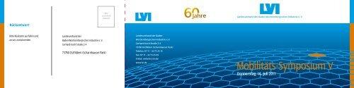 Programm und Anmeldung (PDF, 671KB) - LVI