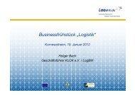 "Businessfrühstück ""Logistik"" - KLOK eV"