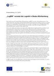 """""""LogBW"""" vernetzt die Logistik in Baden-Württemberg - KLOK"""