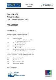 Programme Turku 2009 - KLOK eV
