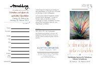 Schreiben und Lesen als spirituelles Geschehen - Kloster Arenberg