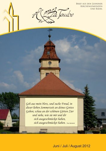 Juni / Juli / August 2012 - Evangelische St. Marien ...