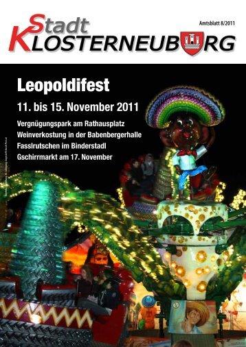Leopoldifest - Stadtgemeinde Klosterneuburg