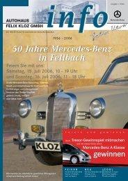 50 Jahre Mercedes-Benz in Fellbach 50 Jahre ... - Autohaus Kloz