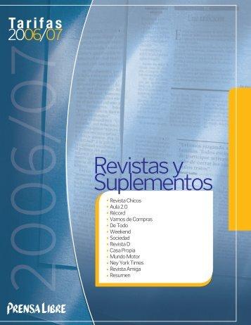 Revistas y Suplementos - Prensa Libre