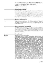 Protokoll GV 2007 - FC Escholzmatt-Marbach