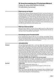 Protokoll der GV 2011 - FC Escholzmatt-Marbach