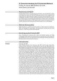 Protokoll der GV 2008 - FC Escholzmatt-Marbach