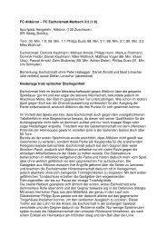 Download Matchberichte Saison 2006/2007 - FC Escholzmatt ...