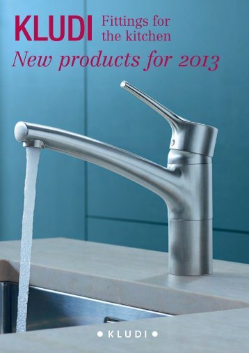 New products for 2013 - Kludi GmbH & Co. KG