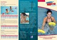 Schwimmkurse und Aquafitness 2. Quartal 2013 - Klutensee-Bad