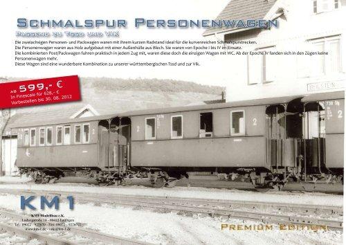 Schmalspur Personenwagen - KM1 Modellbau