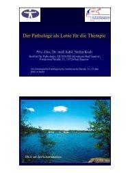 Der Pathologe als Lotse für die Therapie