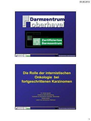 Die Rolle der internistischen Onkologie bei fortgeschrittenen ...