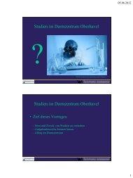 Studien im Darmzentrum Oberhavel