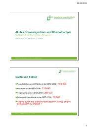Akutes Koronarsyndrom und Chemotherapie